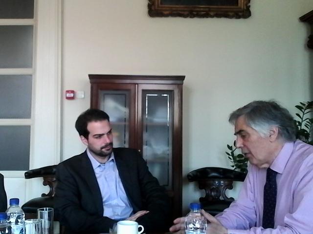 Συνάντηση με τον Πρύτανη του Εθνικού Καποδιστριακού Πανεπιστημίου Αθηνών Θεοδόση Πελεγρίνη