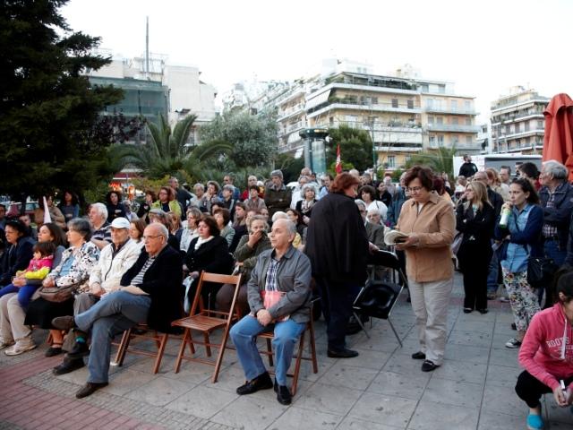 Γαβριήλ Σακελλαρίδης - Ομιλία στους Αμπελόκηπους, Ανοιχτή Πόλη