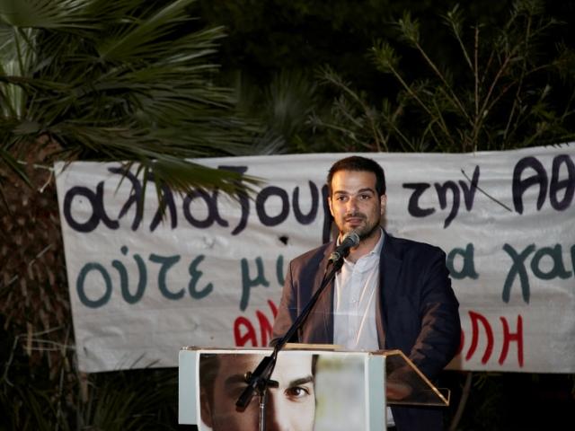 Γαβριήλ Σακελλαρίδης, Ομιλία στους Αμπελόκηπους, Ανοιχτή Πόλη