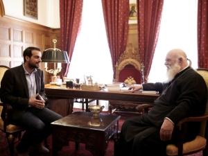 Γαβριήλ Σακελλαρίδης, συνάντηση, Αρχιεπίσκοπος Ιερώνυμος, Ανοιχτή Πόλη