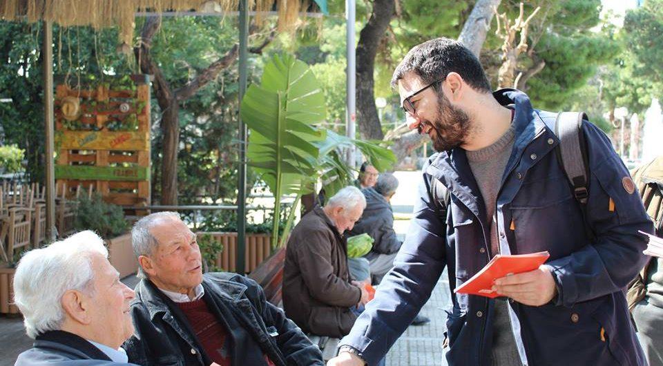 Ο Νάσος Ηλιόπουλος στον Άγιο Θωμά στο Γουδί, στον Κεραμεικό και στη λαϊκή αγορά της Λαμπρινής