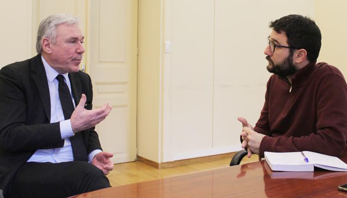 Συνάντηση του Νάσου Ηλιόπουλου με τον Enrico Panini: «Η Νάπολη μάς συγκινεί και μας εμπνέει»