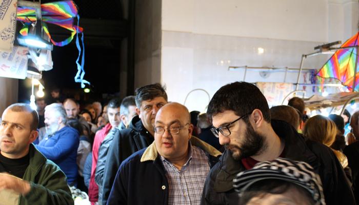 Ο Νάσος Ηλιόπουλος στη Βαρβάκειο Αγορά (φωτογραφίες)