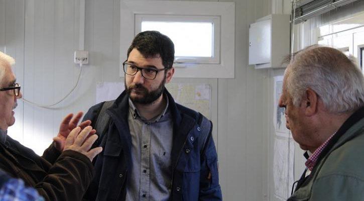 Ο Νάσος Ηλιόπουλος στον Σταθμό Μεταφόρτωσης Απορριμμάτων στον Ελαιώνα