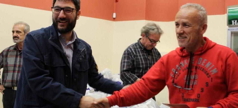 O Νάσος Ηλιόπουλος στην Κοινωνική Υπηρεσία Αλληλεγγύης του Δήμου Αθηναίων