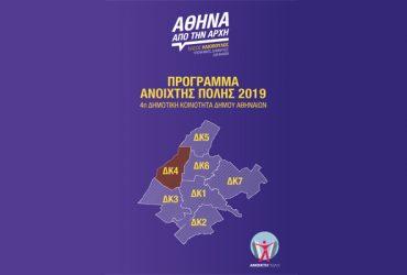 4η Δημοτική Κοινότητα: Το πρόγραμμα και οι υποψήφιοι