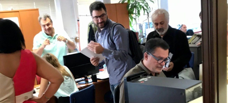 Επίσκεψη της Ανοιχτής Πόλης σε υπηρεσίες του Δήμου Αθηναίων σχετικά με το αναπτυξιακό νομοσχέδιο