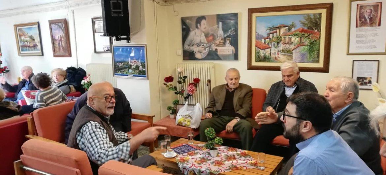 Ο Νάσος Ηλιόπουλος και μέλη της Ανοιχτής Πόλης στο Πέμπτο Διαμέρισμα