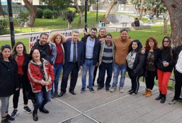 Η Ανοιχτή Πόλη και ο Νάσος Ηλιόπουλος κοντά στους συμβασιούχους της 3Κ