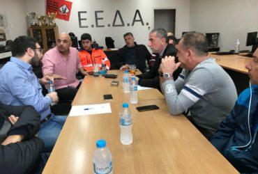 Συνάντηση του Νάσου Ηλιόπουλου με το Σωματείο Καθαριότητας Δήμου Αθηναίων Ε.Ε.Δ.Α.
