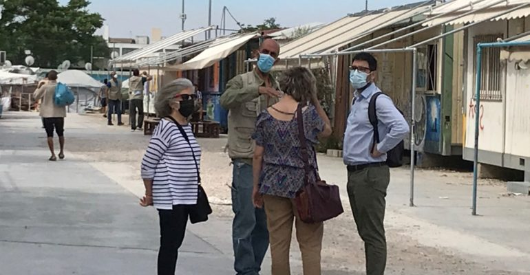 Επίσκεψη της Ανοιχτής Πόλης στη δομή φιλοξενίας του Ελαιώνα